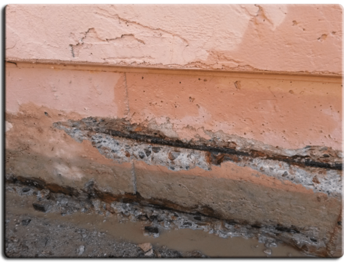 Concrete cracks in the foundation