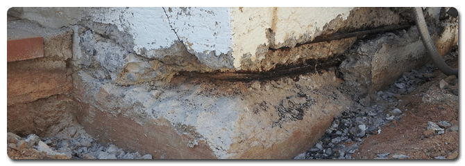 Stem wall repair foundation repair services in phoenix for Foundation stem wall